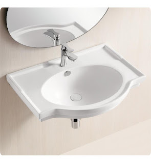 Touchless faucet at a bathroom sink.