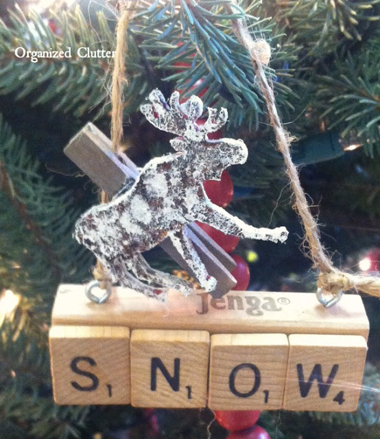Jenga/Scrabble Tile Ornaments