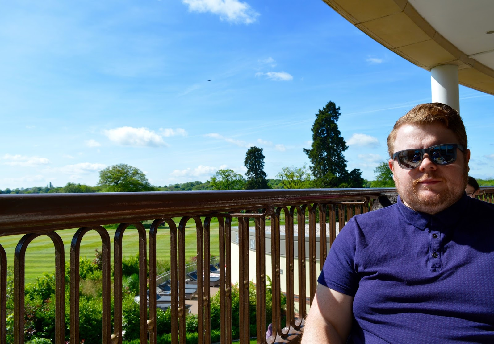 Rockliffe Hall midweek spa break review - brasserie balcony