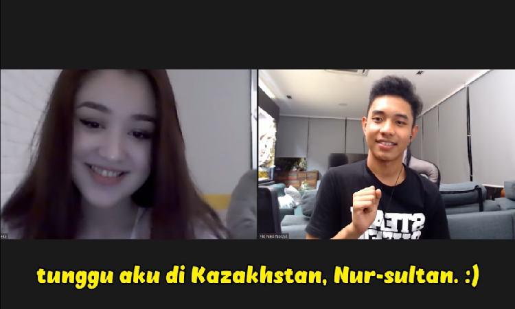 Dayana Nungguin Fiki Naki di Kazakhstan