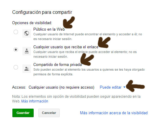 compartir documento en google drive