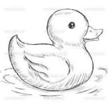 sketsa bebek