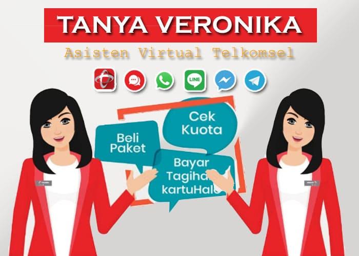 Tanya Veronika Asisten Virtual Canggih dari Telkomsel