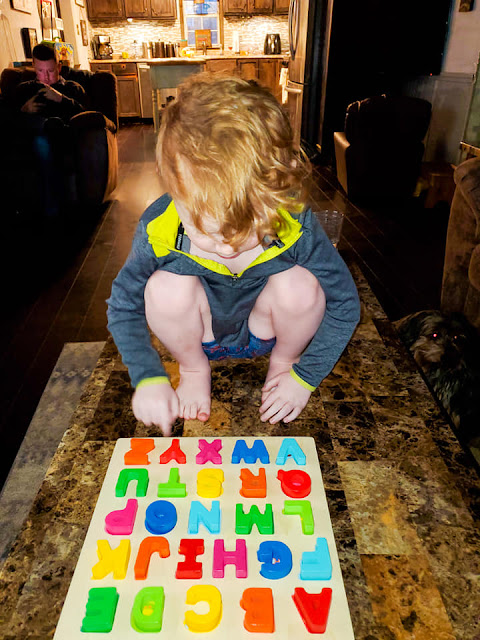 brody and his alphabet puzzle