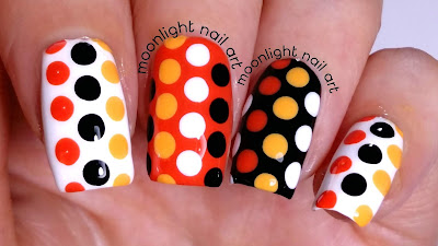 Polka Dots Design: Orange, Black and White