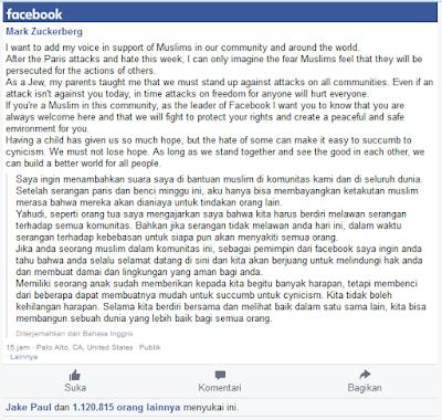Pernyataan tegas dari Mark Zuckerberg