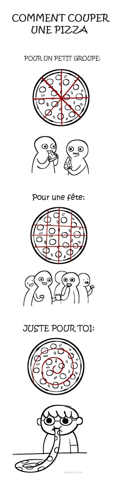 Humour comment couper une pizza - Comment couper une video vlc ...