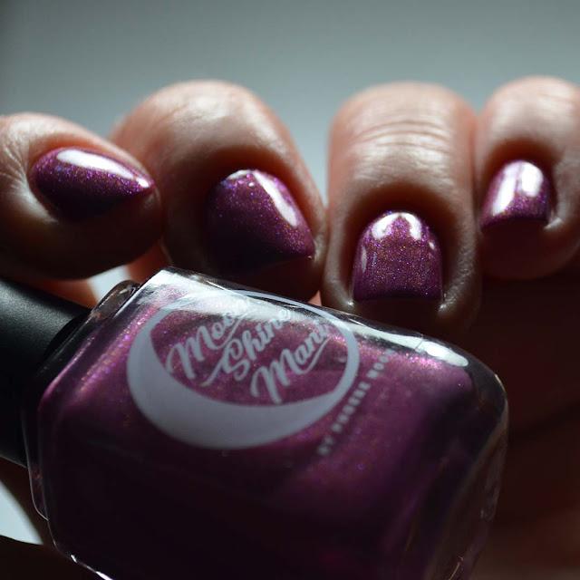 mauve shimmer nail polish low light swatch