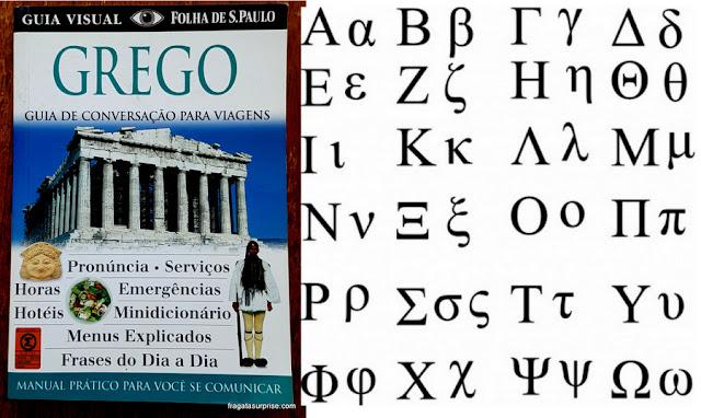 Guia de conversação e alfabeto grego