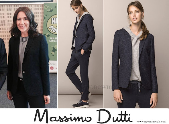Crown Princess Mary Massimo Dutti Tiny polka dot printed jacket