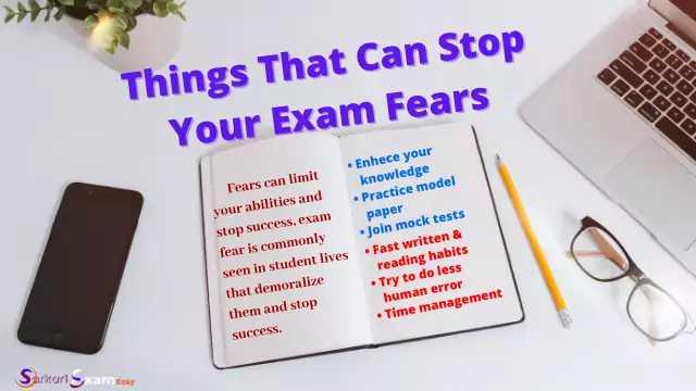 stop exam fear