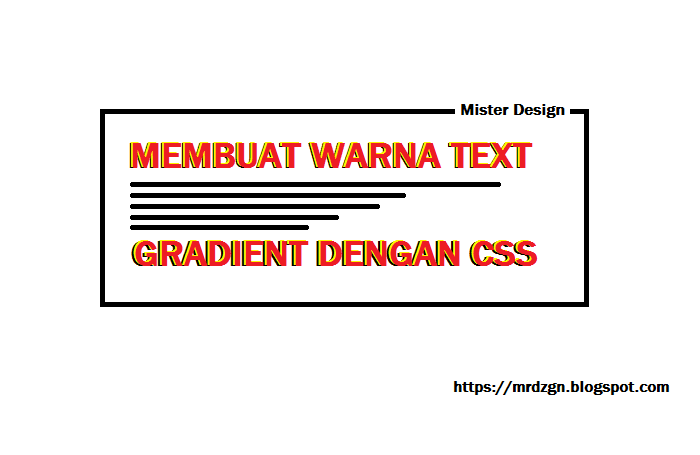 Membuat Text Gradient