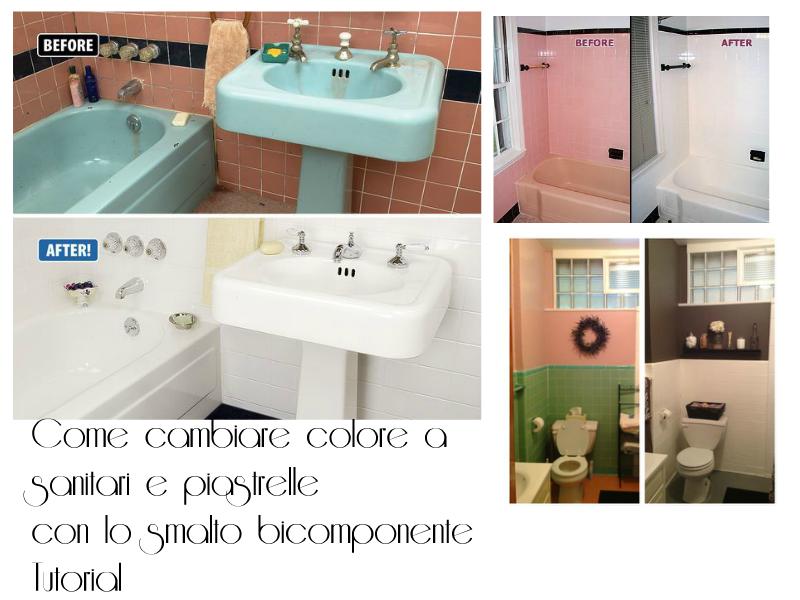 Come cambiare colore a sanitari piastrelle del bagno con lo smalto bicomponente - Smalti bicomponenti per pitturare piastrelle o ceramiche ...