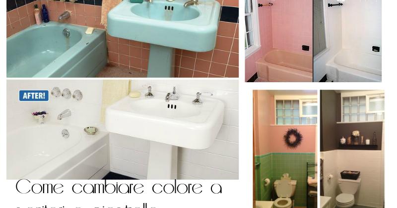 Come cambiare colore a sanitari piastrelle del bagno con lo smalto