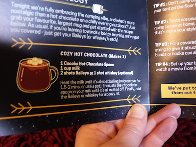 A close up photo of a hot chocolate recipe which  shows a picture of a cup