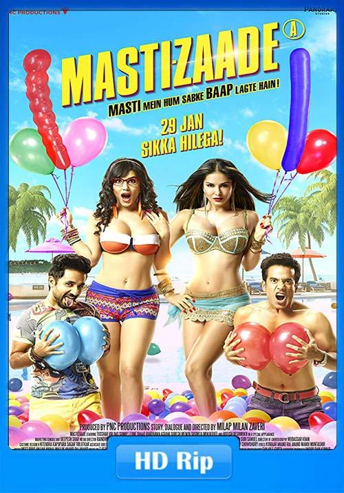 Mastizaade 2016 Hindi 720p WEB HDRip x264   480p 300MB   100MB HEVC
