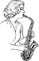 Sax oynayan kadın
