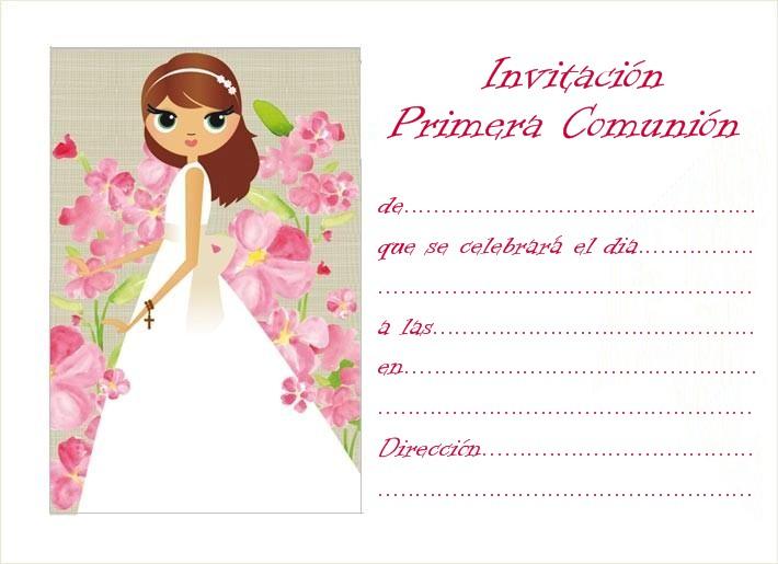 Invitaciones De Primera Comunion Para Imprimir Gratis