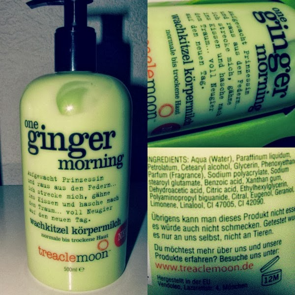 "treaclemoon ""one ginger morning"" bodylotion"
