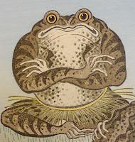 krupis, toad, latvian folklore, latvian mythology, latviešu folklora, latviešu mitoloģija, capital r, 2018