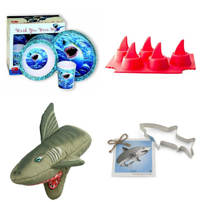 Shark themed kitchen items.