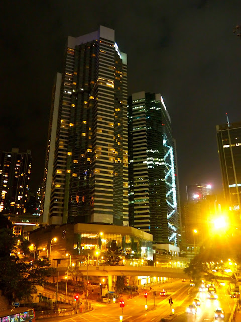 Pacific Place at night, Admiralty, Hong Kong