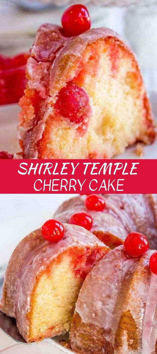 Shirley Temple Cherry Cake #cakerecipe #baked #bruncideas