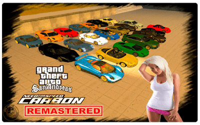 GTA San Andreas NFS Carbon Remastered Mod Download