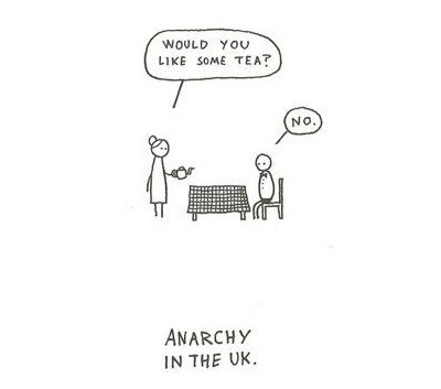 My Name Is Not King...: Britishness. And humor.