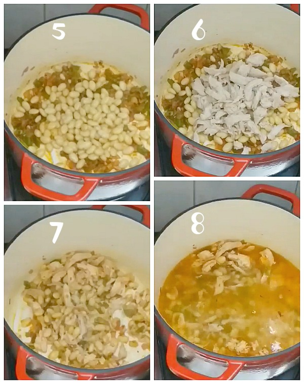 steps to make white bean chicken chili