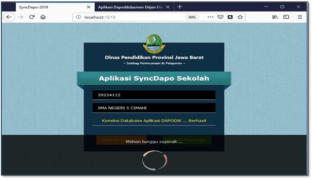 Aplikasi install syncdapo jabar merupakan aplikasi yang dikembangkan Disdik Provinsi Jawa Barat.