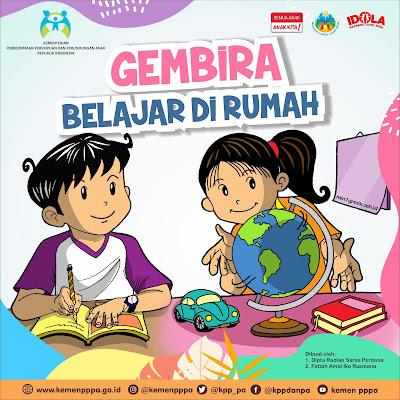 buku cerita bagaimana belajar di rumah dengan gembira