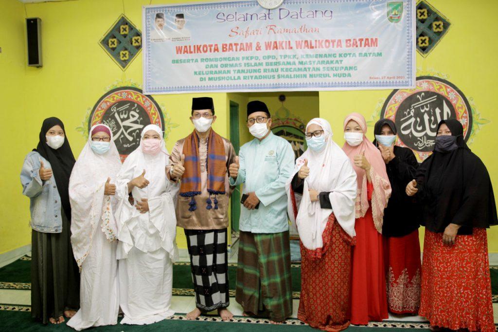 Safari Ramadhan di Yayasan Riyadhus Shalihin Nurul Huda, Amsakar Paparkan Program Pemko Batam