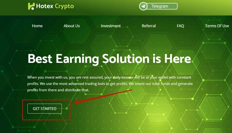 Регистрация в Hotex Crypto