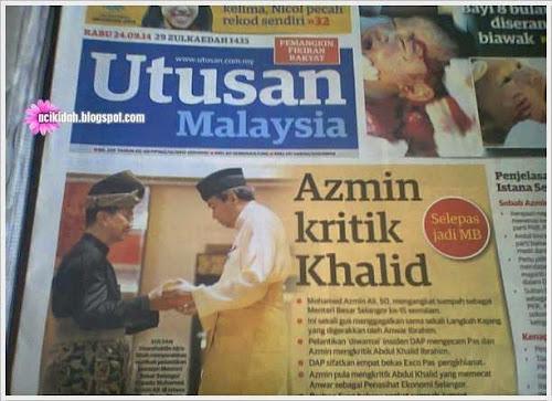 Lu Pikir La Sendiri ~ Azmin Kritik Khalid