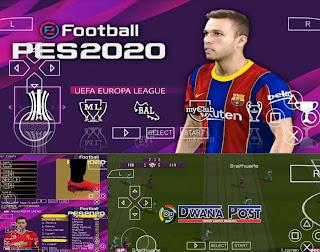 Terbaru Game eFootball PES 2020 PPSSPP ISO : Update Transfer Pemain & Camera Ps4