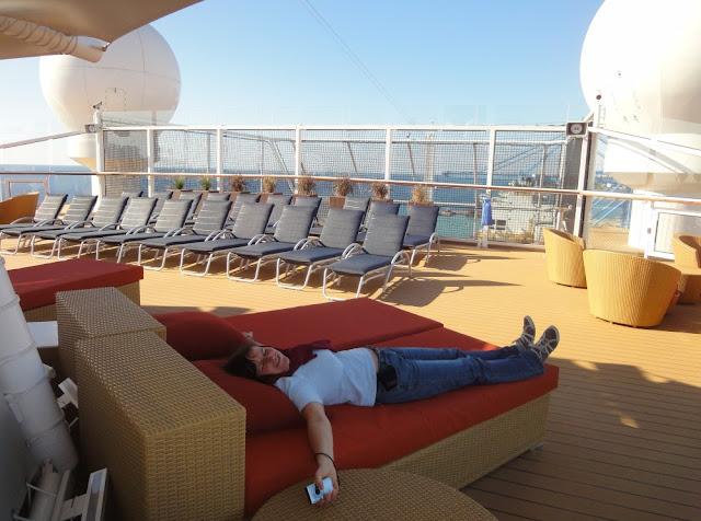 Entspannung an Deck - Celebrity Silhouette Transatlantik 2011