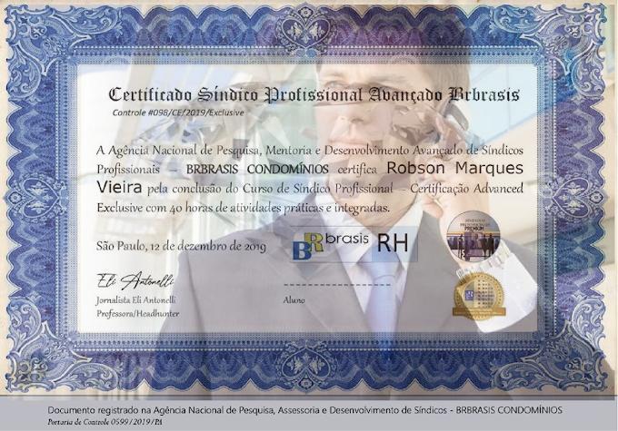 Inscrição no Curso de Síndico Profissional - CERTIFICAÇÃO BRBRASIS CONDOMÍNIOS