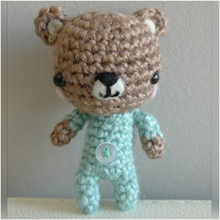 patron amigurumi Baby Teddy all about ami