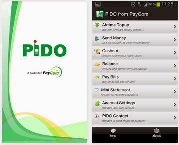 PiDO: Register For PiDO mobile money from PayCom