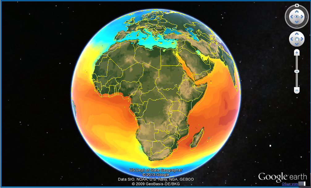 Europe and Africa Temperatures