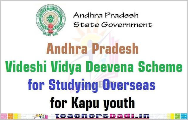 AP Videshi Vidya Deevena Scheme,studying overseas,Kapu youth