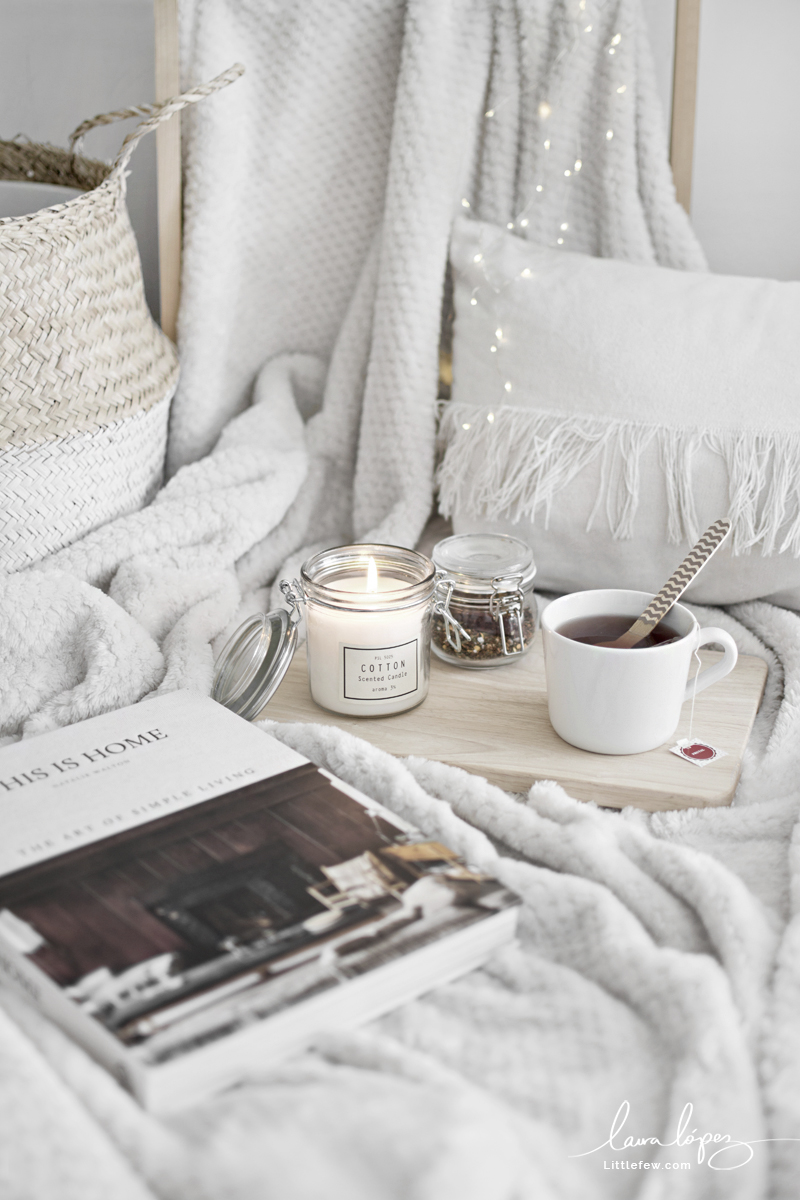 WHITE AND WOODEN DETAILS FOR A COZY WINTER / Decoración en blanco y madera para un invierno acogedor.