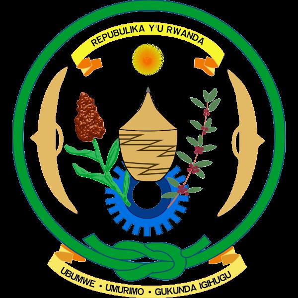 Logo Gambar Lambang Simbol Negara Rwanda PNG JPG ukuran 600 px