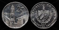 25 cents - Cuban Convertible Peso - CUC