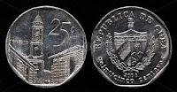 25 cents - Cuban Convertible Peso - CUC