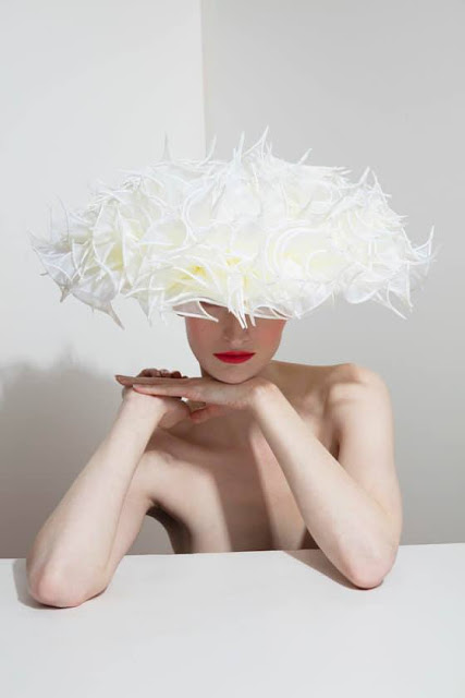K'Mich Weddings and Events - Philip Treacy Hat collection - white