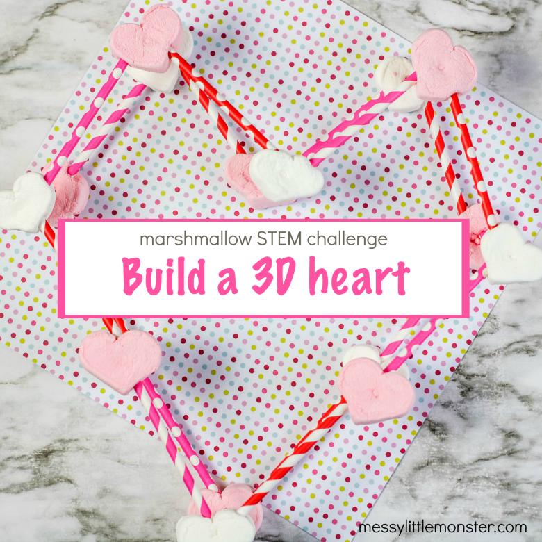Marshmallow Structures STEM challenge - with a Valentine twist!