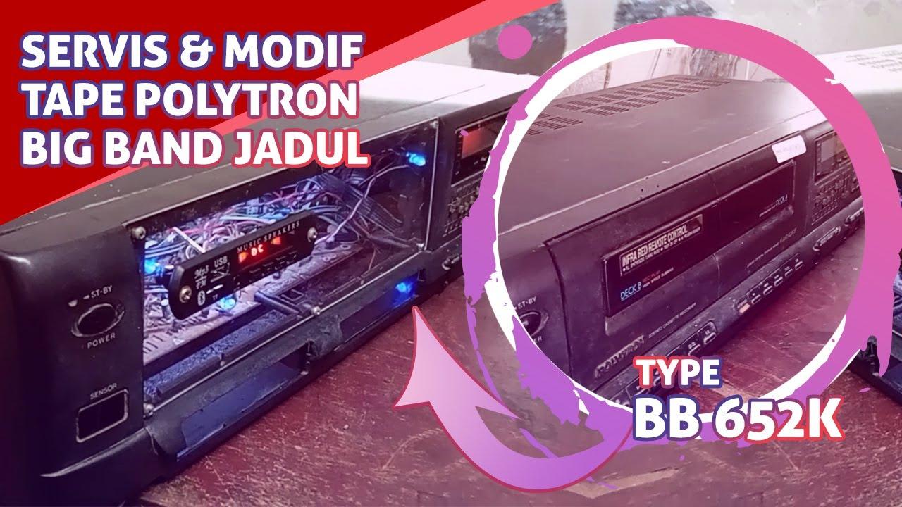 Servis & Modif Tape Polytron Big Band Jadul (Dirubah ke USB Bluetooth)