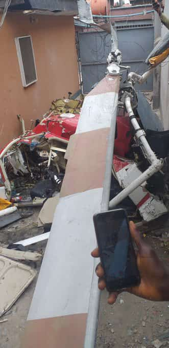 Helicopter crash into a building at Ikeja,Lagos state